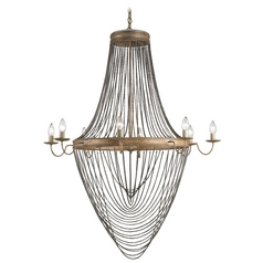 Currey And Company 8-Light Chandelier in French Gold Leaf