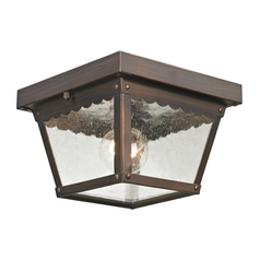 Seeded Glass Close To Ceiling Light Bronze Thomas Lighting