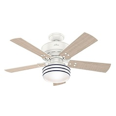 Hunter 44-Inch Fresh White LED Ceiling Fan with Light with Hand-Held Remote