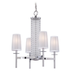 Chandelier with Silver Shades in Chrome Finish