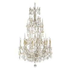 Crystal Chandelier in Natural Shell Finish