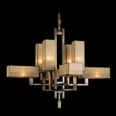 Fine Art Lamps Perspectives Patinated Golden Bronze Chandelier