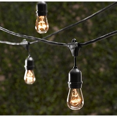 Outdoor Decorative Patio String Lights - 48 FT Long - Includes Bulbs
