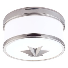 Seneca 1 Light Flushmount Light Drum Shade - Polished Chrome