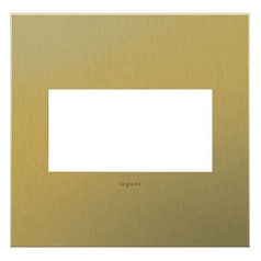 Legrand Adorne Brushed Brass 2-Gang Switch Plate