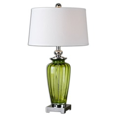 Uttermost Amedeo Green Glass Table Lamp