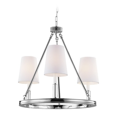 Feiss Lighting Lismore Polished Nickel Chandelier