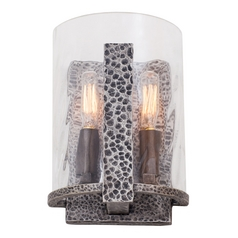 Kalco Lighting Odessa Hammered Silver Sconce