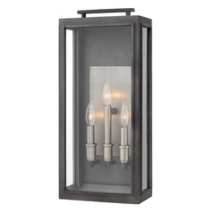 Aged Zinc Outdoor Wall Light by Hinkley Lighting