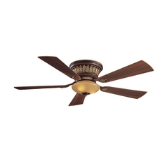 52-Inch Ceiling Fan with Light in Belcaro Walnut Finish