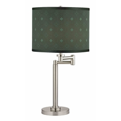 Swing Arm Table Lamp with Drum Lamp Shade