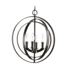 Progress Orb Chandelier in Antique Bronze Finish