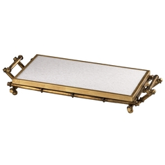 Cyan Design Bamboo Gold Tray