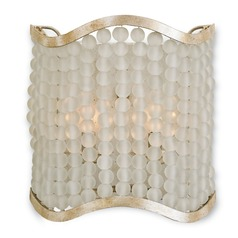 Currey and Company Chanson Silver Granello Sconce