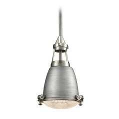 Farmhouse Mini-Pendant Light Zinc / Satin Nickel Sylvester by Elk Lighting