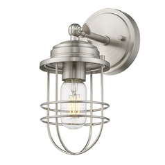 Golden Lighting Seaport Pewter Sconce