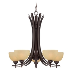 Lite Source Lighting Frenchie Dark Bronze Chandelier