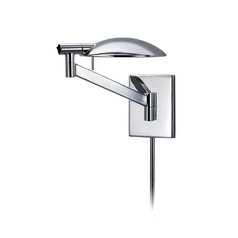 Modern Swing Arm Lamp in Polished Chrome Finish