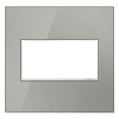Legrand Adorne Brushed Stainless 2-Gang Switch Plate