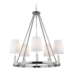 Feiss Lismore 5-Light Chandelier in Polished Nickel