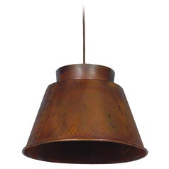 Kenroy Home Lighting Metalsmith Rust Pendant Light with Empire Shade