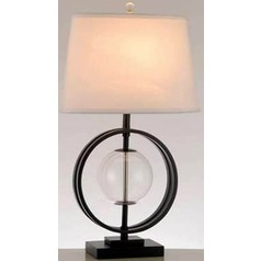 Lite Source Herbert Black Table Lamp with Oval Shade