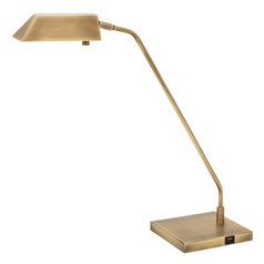 House Of Troy Newbury Antique Brass LED Table Lamp