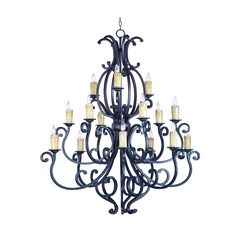 Chandelier in Colonial Umber Finish