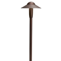 Kichler LED Path Light in Textured Architectural Bronze Finish