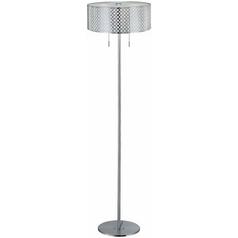 Modern Floor Lamp in Polished Steel Finish