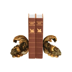 Turning Leaf Decorative Bookend Set