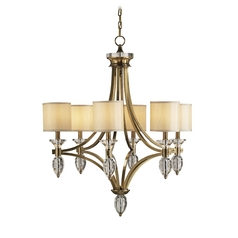 Chandeliers in Coffee Bronze/clear Crystal Finish