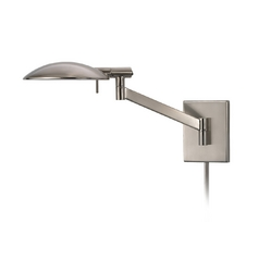 Modern Swing Arm Lamp in Satin Nickel Finish