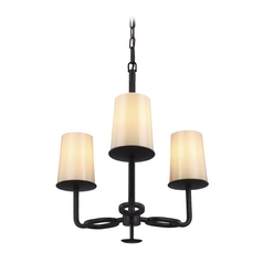 Feiss Huntley 3-Light Mini Chandelier in Oil Rubbed Bronze