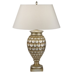 Fine Art Lamps Recollections Antiqued, Gold-Stained Silver Leaf Table Lamp with Empire Shade