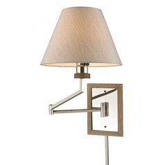 Elk Lighting Madera Polished Nickel Swing Arm Lamp