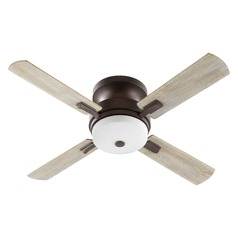 Quorum Lighting Davenport Oiled Bronze Ceiling Fan with Light