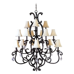 Maxim Lighting Richmond Colonial Umber Chandelier