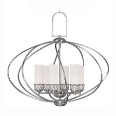 Livex Lighting Westfield Brushed Nickel Pendant Light with Cylindrical Shade