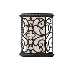 Murray Feiss Import Co. 9-1/2-Inch Outdoor Wall Light with Metal Fretwork ODWB4820BK