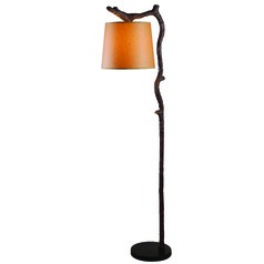 Kenroy Home Lighting Overhang Bronzed Floor Lamp with Empire Shade
