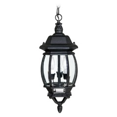 Capital Lighting French Country Black Outdoor Hanging Light