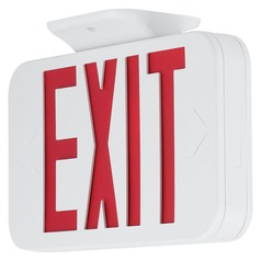 LED Exit Sign with Red Lettering by Progress Lighting
