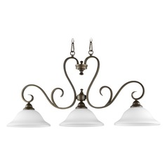 Quorum Lighting Celesta Oiled Bronze Island Light with Bell Shade