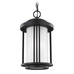 Sea Gull Lighting Crowell Black LED Outdoor Hanging Light