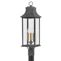 Colonial Style Post Light Aged Zinc by Hinkley Lighting