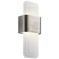 Art Deco Modern LED Sconce Pewter Serene by Kichler Lighting