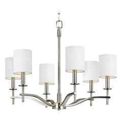 Feiss Lighting Hewitt Satin Nickel Chandelier