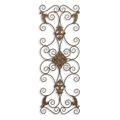 Uttermost Lighting Wall Art in Aged Black / Rust Brown Finish 13318