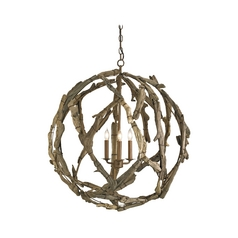 Pendant Light in Natural Finish